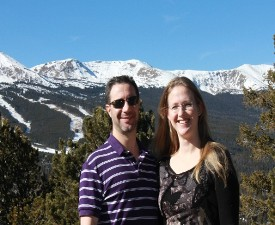 Eric Jeffery and wife in the mountains above Breckenridge, CO